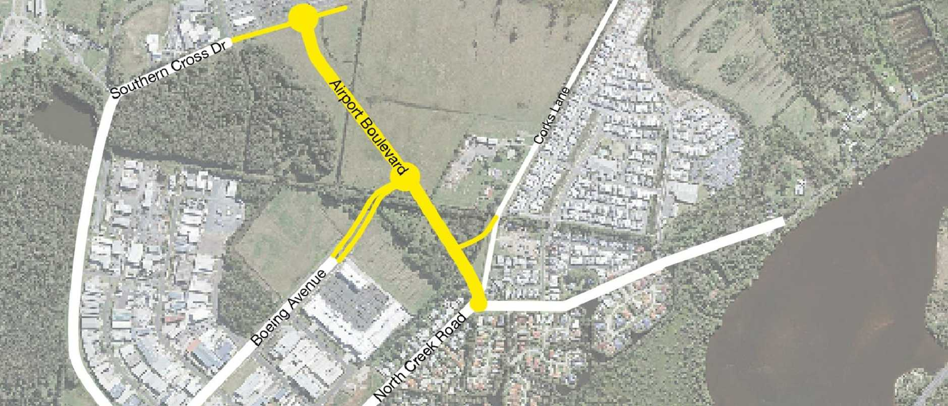 Construction is about to start on Airport Boulevard, the new entrance road to the Ballina Byron Gateway Airport.
