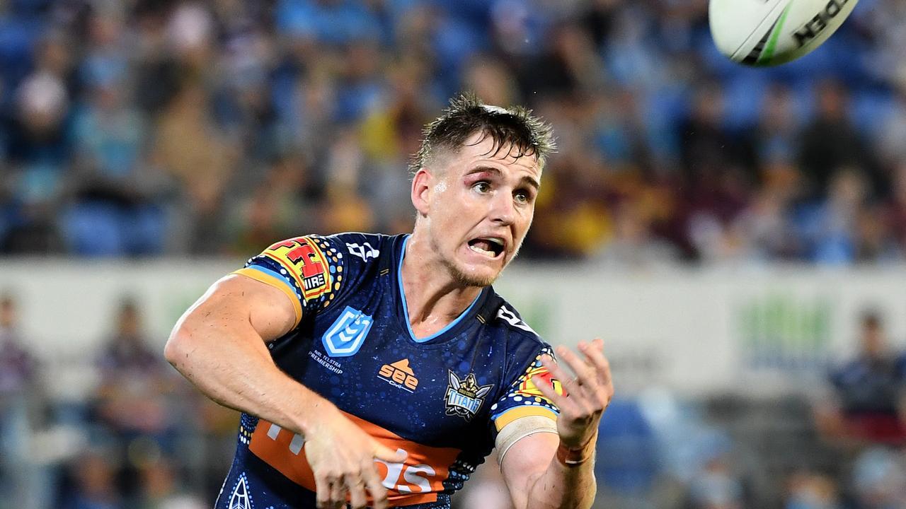 Gold Coast Titans footballer A J Brimson. Picture: Dave Hunt/AAP Image