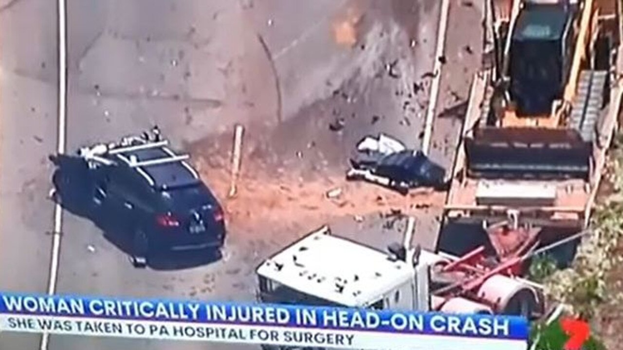 7 News footage shows the horror head-on at Redbank Plains. Pic: 7 News