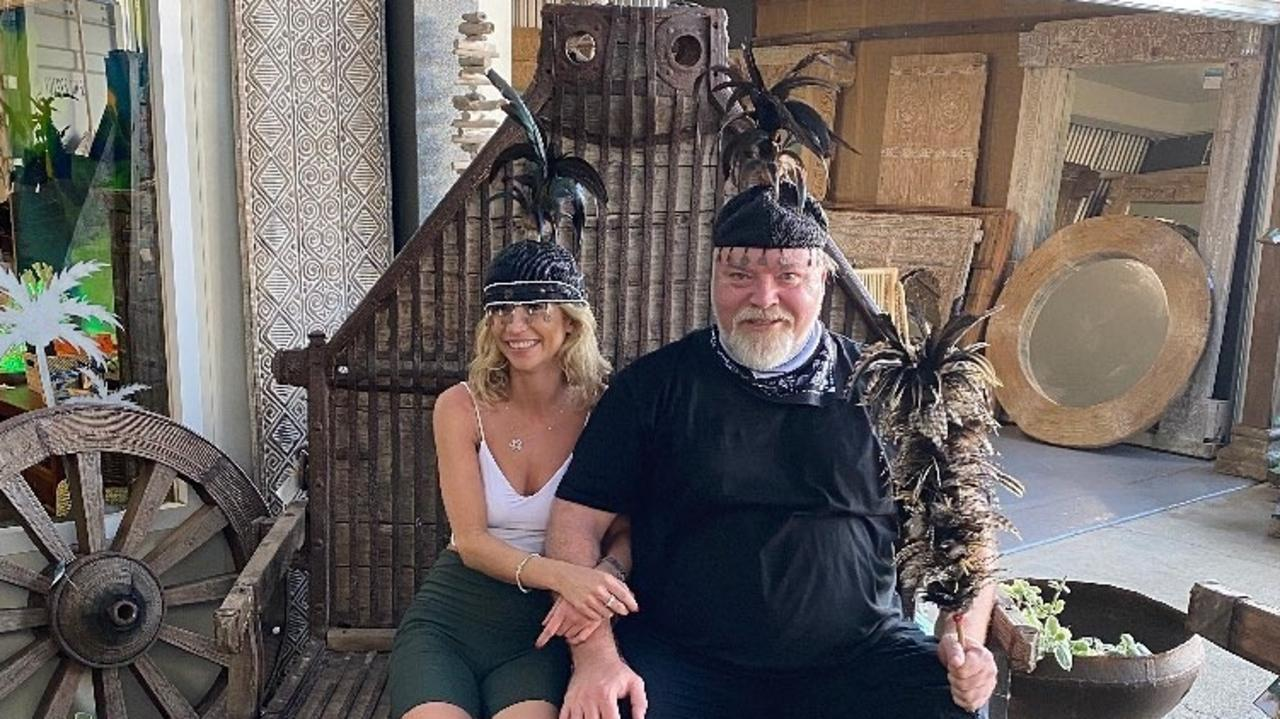 KIIS FM radio host Kyle Sandilands and partner Tegan Kynaston went on a shopping spree at Bungalow Life in Cairns to deck out their new Port Douglas rainforest retreat with furniture and decor. PICTURE: SUPPLIED