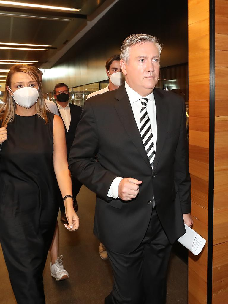 Eddie McGuire leaves Collingwood after annnouncing he's stepped down.