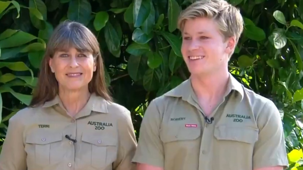 Terri and Robert Irwin on Channel 7's Sunrise.