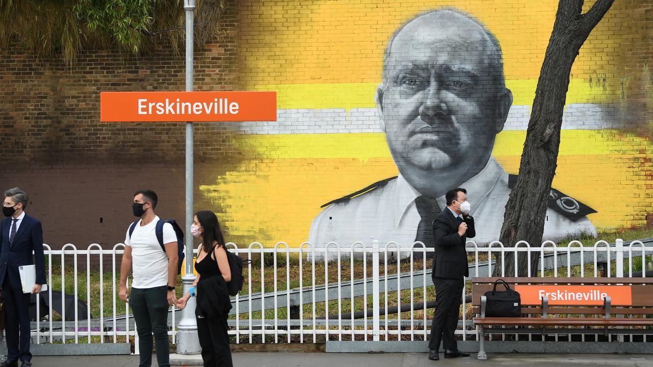 The new mural of RFS hero Shane Fitzsimmons. Picture: NCA NewsWire/Joel Carrett