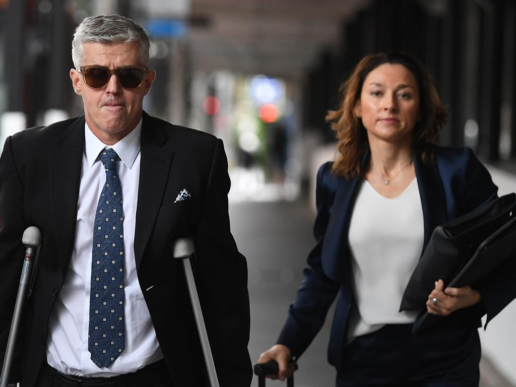 "Barrister Peggy Dwyer (right) said Ms Murphy had frequently given ""implausible"" and ""self-serving"" evidence that was countervailed by numerous photographs and videos taken by Mr Wyllie. Picture: NCA NewsWire/Joel Carrett"