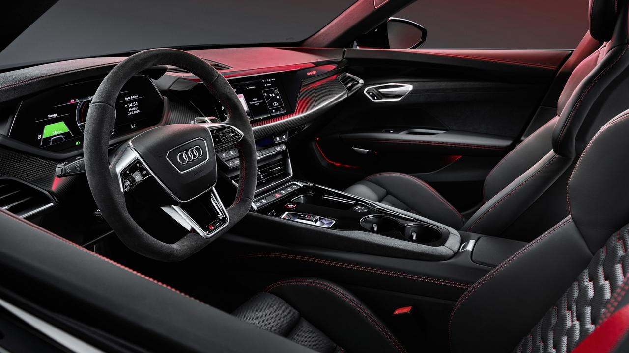 The e-tron GT upholds Audi's reputation for top-class interiors.