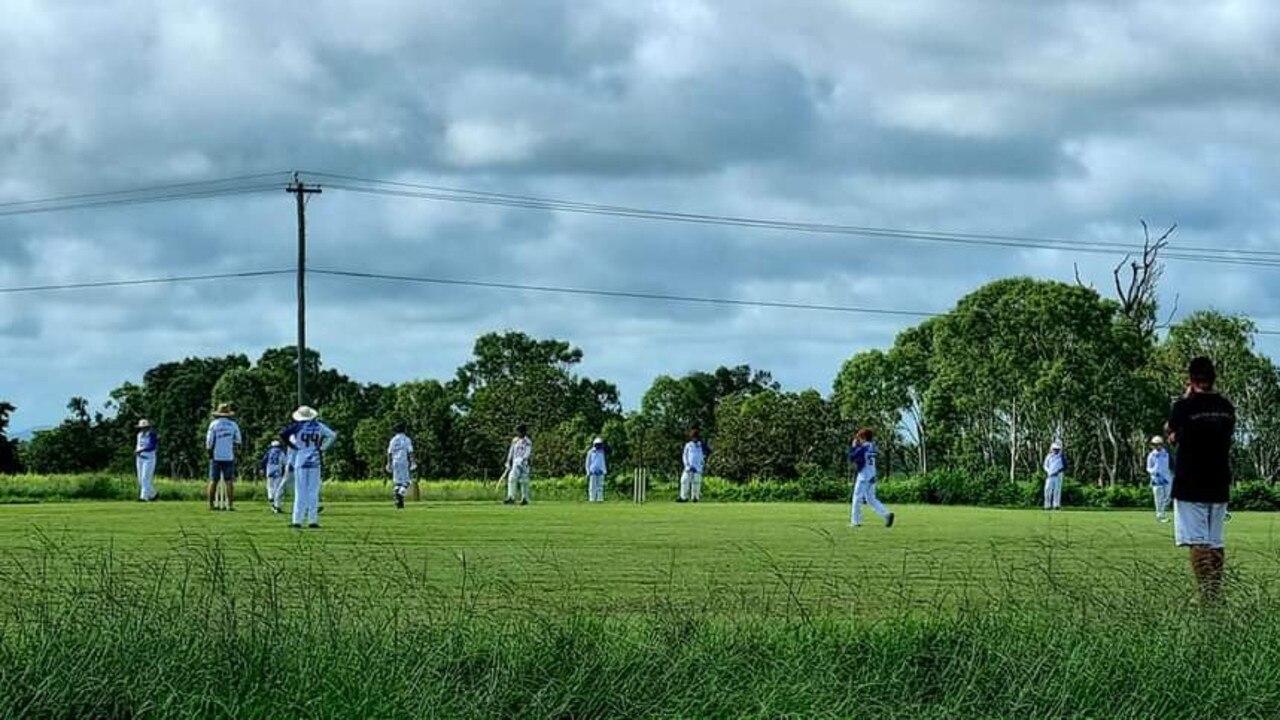Proserpine's U13 cricketers in action.