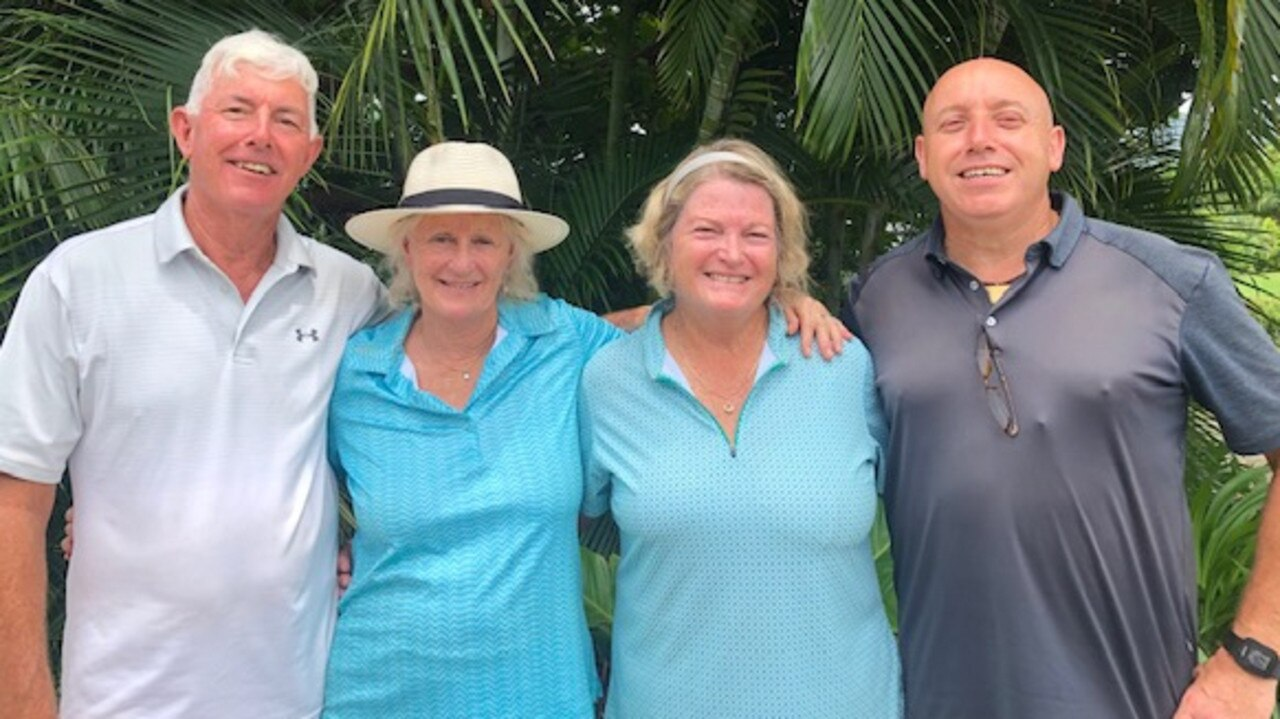 Peter Fox, Linda Wardroper, Anna Winterbourn and Don Cameron from Whitsunday Golf Club. Photo: Contributed