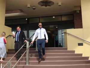 Joel Marschke leaves court
