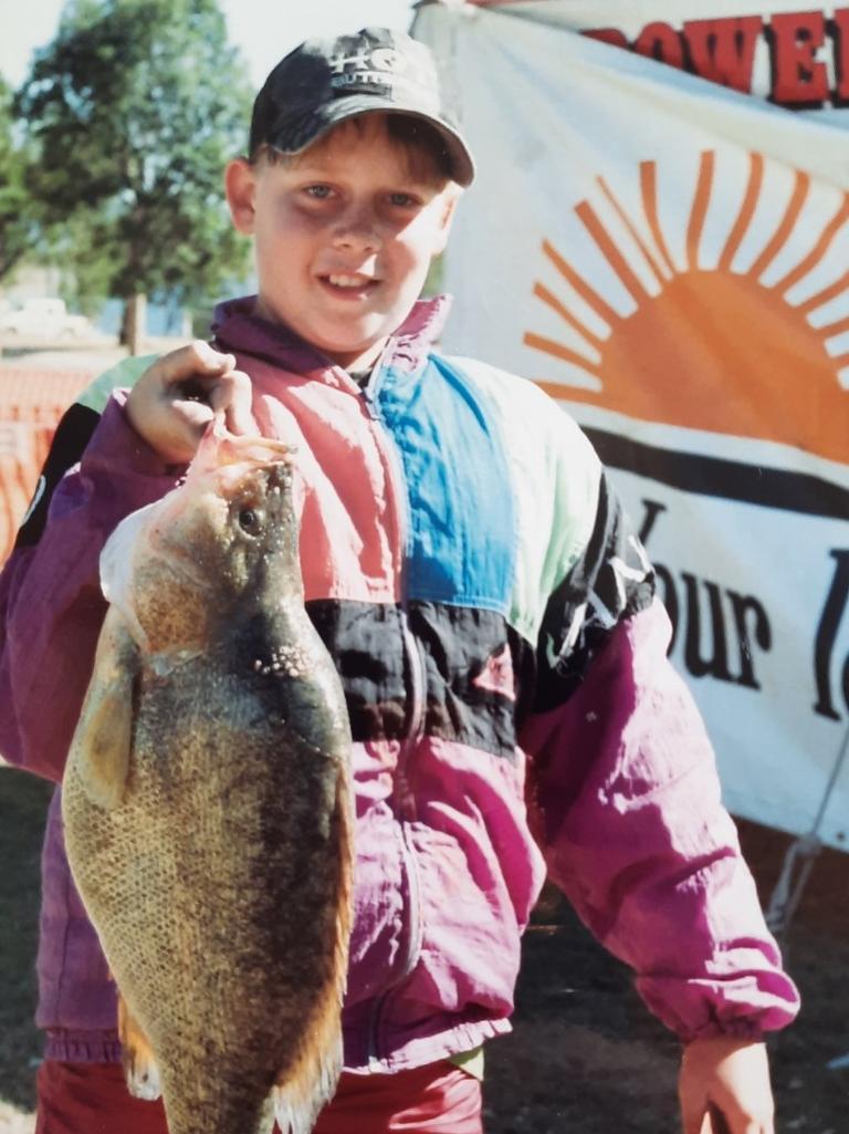 James Woolacott, aged 12, caught a 4.7kg golden perch at the 1994 Kirkleagh Klassic. Picture: David Lems