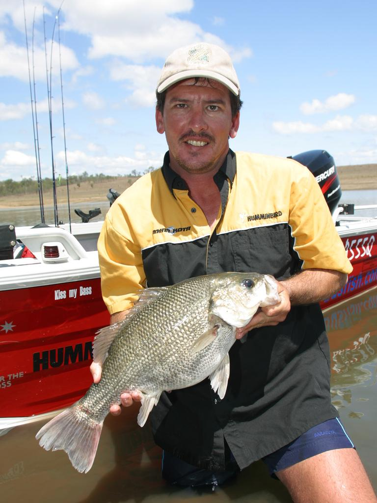 Garry Fitzgerald with a solid Lake Wivenhoe bass.