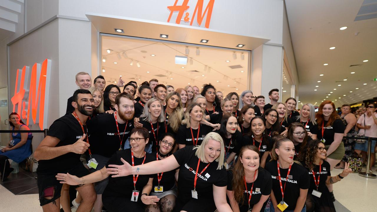 H&M staff at the official opening of the H&M store at Stockland Rockhampton.