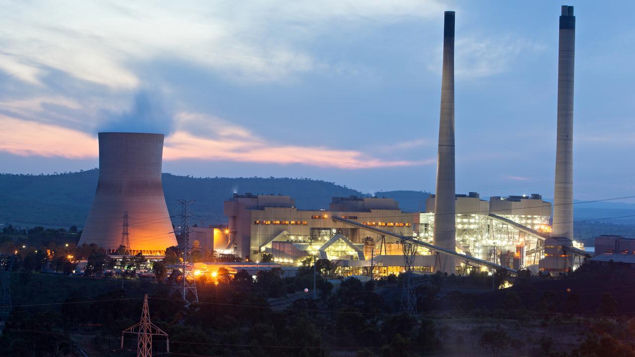 Callide Power Station at dusk