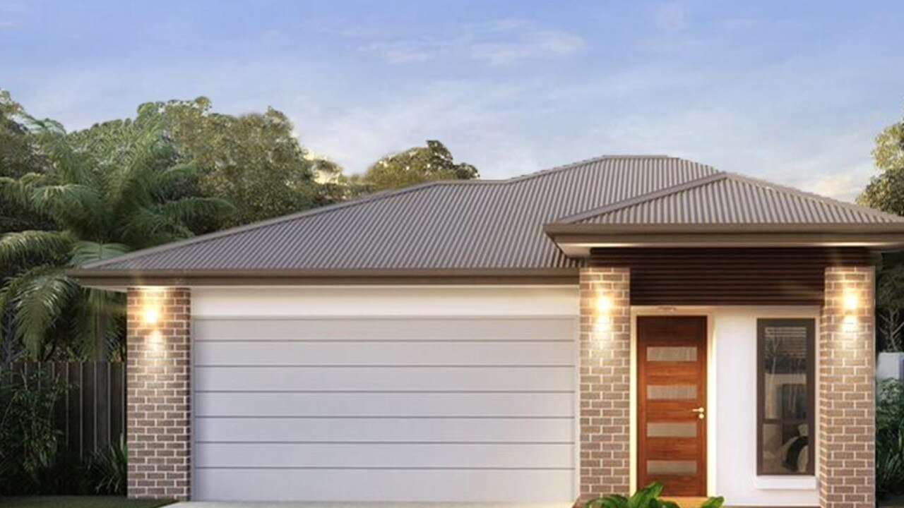 Renders of facades buyers can choose for homes in The Plateau estate in Flinders View