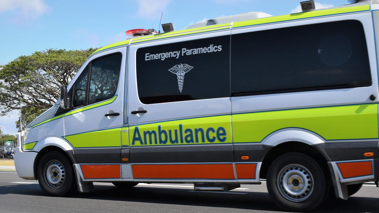 A Queensland Ambulance Service crew have attended a crash at Clairview. Picture: Heidi Petith