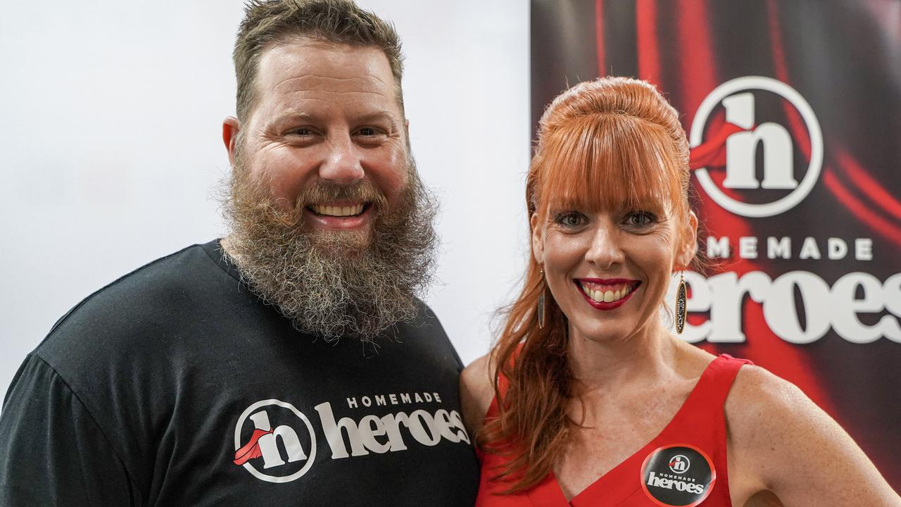 Split Spaces founder Jarryd Townson with Red Hot Blue director Jody Euler at the launch of Hometown Heroes, February 11, 2021. Picture: Heidi Petith