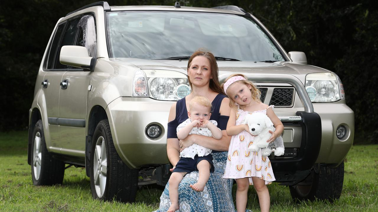 Natalie Friswell was left without a car when Audi bought back her Takata-affected A4 for just $950. Picture: Jason O'Brien