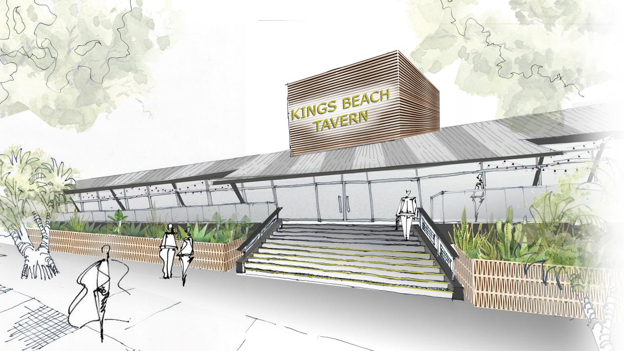 An artist's impression of the new Kings Beach Tavern on the Sunshine Coast.