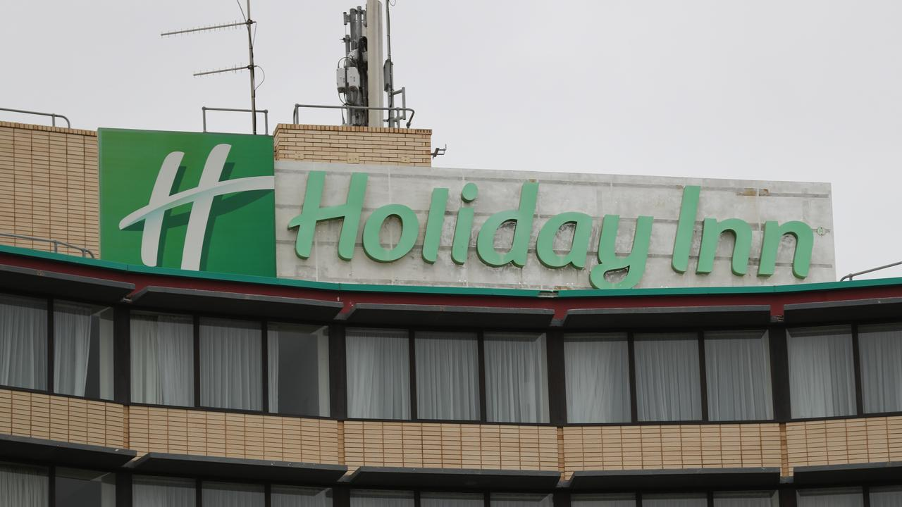 The Holiday Inn at Melbourne Airport is the site Melbourne's latest outbreak Picture: David Crosling