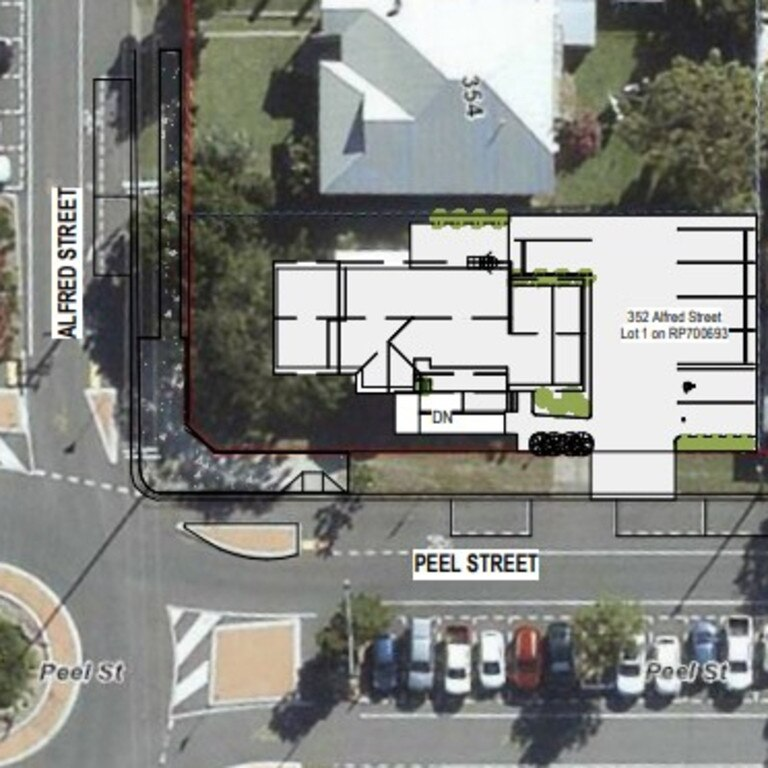 Plans proposed for the community centre at 352 Alfred St, Mackay. Picture: Sans Borne Group.