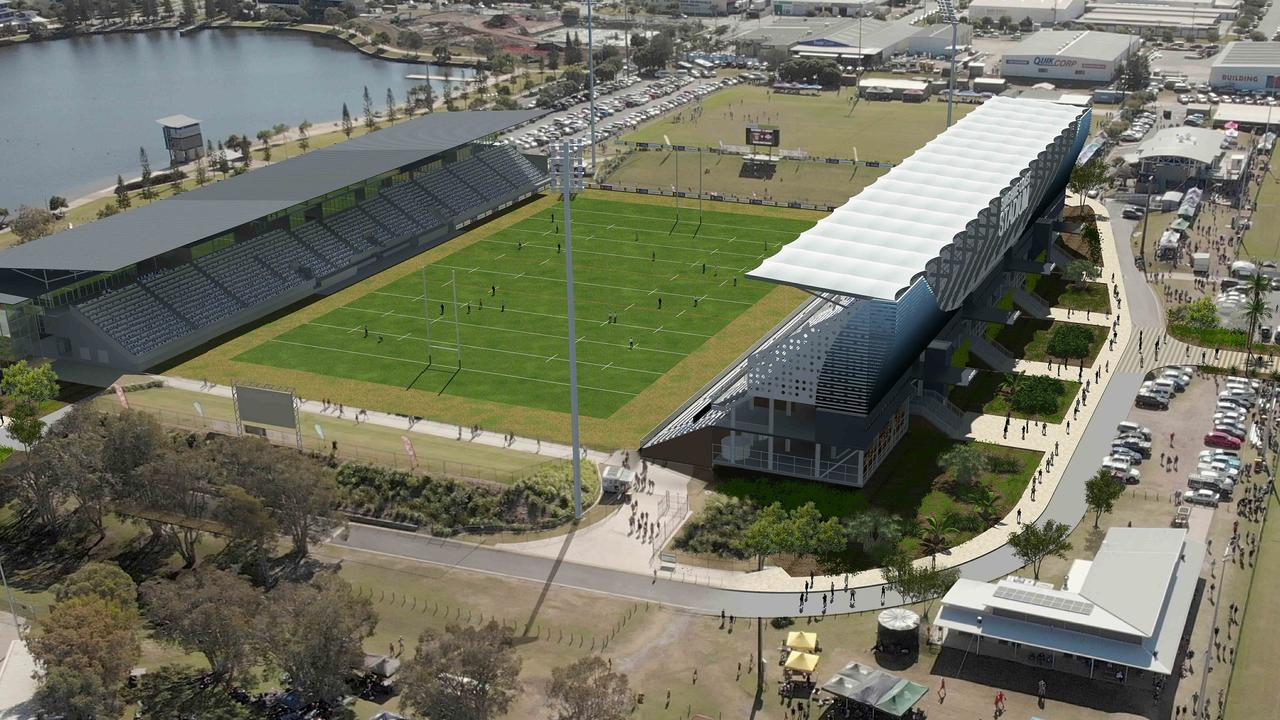 Plans to upgrade Sunshine Coast Stadium have taken a hit after the Federal Government was unable to find the required money to fund the project.