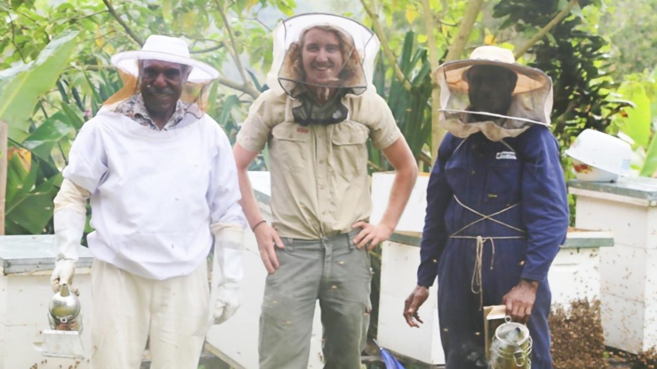 BEEKEEPING: On February 12, 2021, Dr Cooper Schouten (middle with colleagues undertaking fieldwork in PNG) will give the SCU graduate address on February 13, 2021. Dr Schouten's research focused on beekeeping in PNG and how this can make a positive impact of some of the poorest communities.