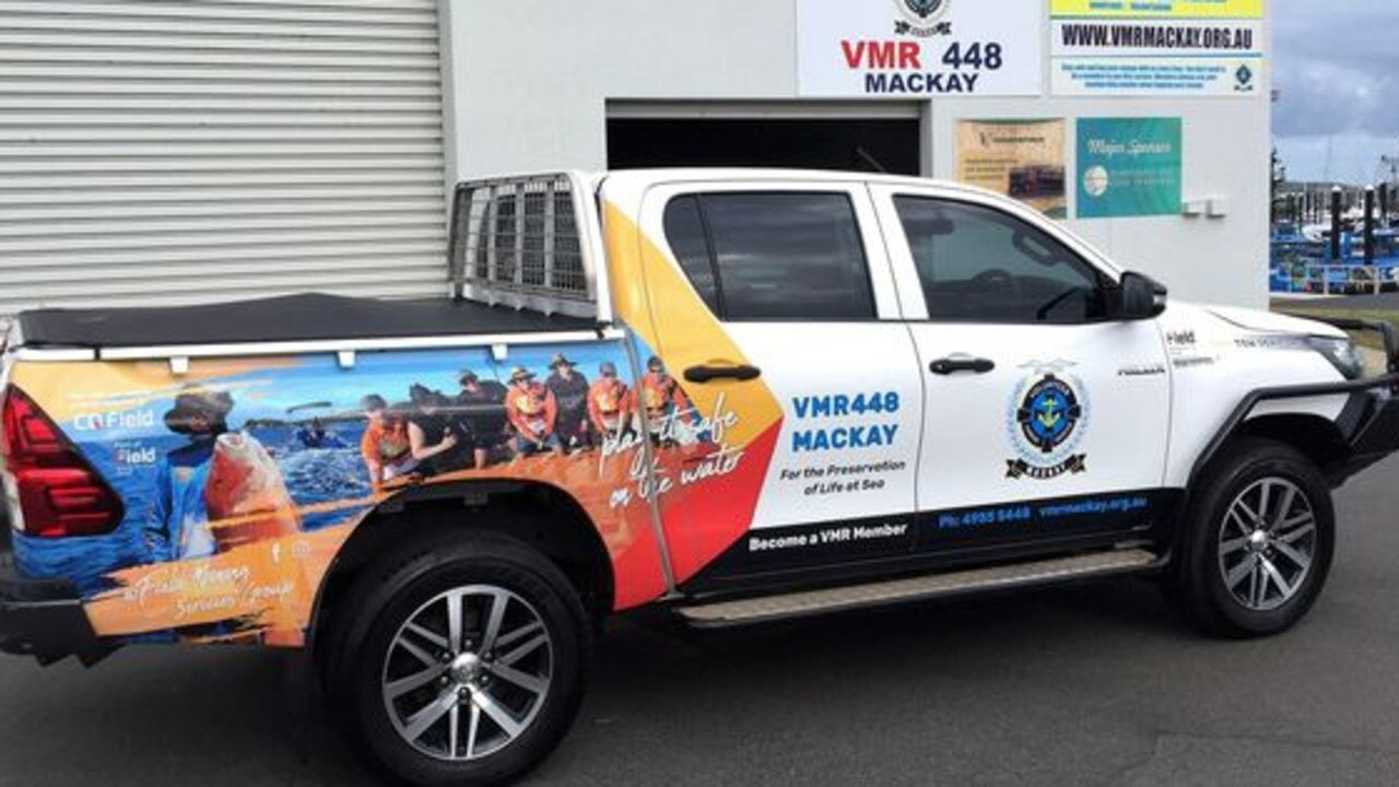 Volunteer Marine Rescue Mackay's new Toyota HiLux – a gift from CQ Field Mining Services. Picture: Daryl Howland / VMR.