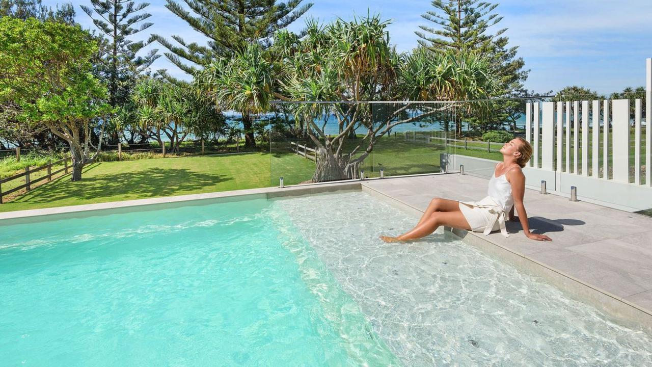 This could be you if you buy 18 Oceanfront Drive, Sapphire Beach. Photo: realeastate.com.au