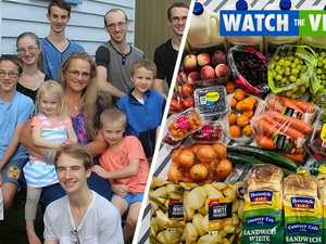 Mother-of-16 reveals what a 'quick' grocery trip looks like