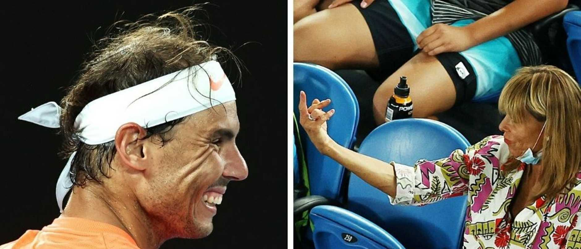 The tennis fan who gave Rafael Nadal the finger has doubled down on her views in an extraordinary radio interview.