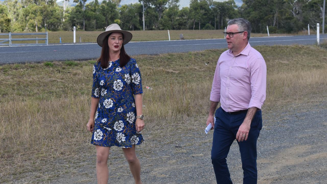 ROAD PROJECT: Keppel MP Brittany Lauga and Queensland Senator Murray Watt inspect the treacherous Rockhampton-Yeppoon Rd which is on track for an $80 million upgrade.