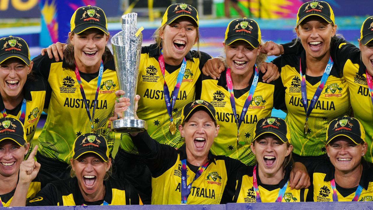 Meg Lanning and the Aussies stormed to home World Cup success in 2020. Picture: AAP Image/Scott Barbour