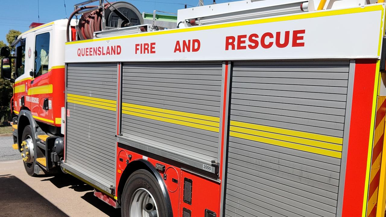 QFES and Rural Fire Service Queensland fire-fighters were called to a truck fire on the Dawson Highway at Mount Murchison. FILE PHOTO.