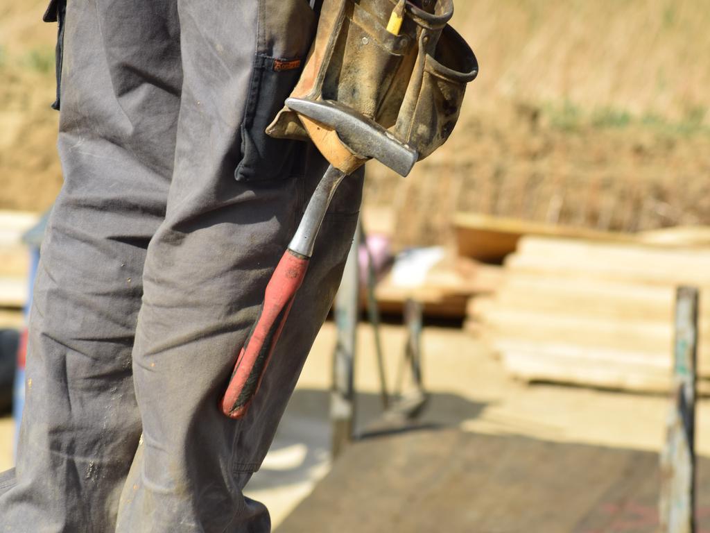 Construction, tradesman, tradie, building, site, worker, high-vis, hi-vis, crane, generic shots.