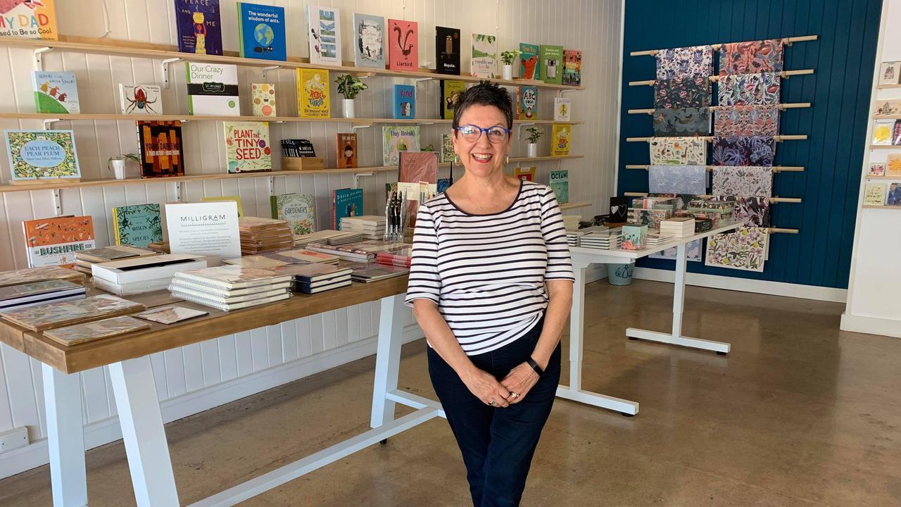 Nene Davies at her new Yeppoon book and stationery store, Hannah Jones.