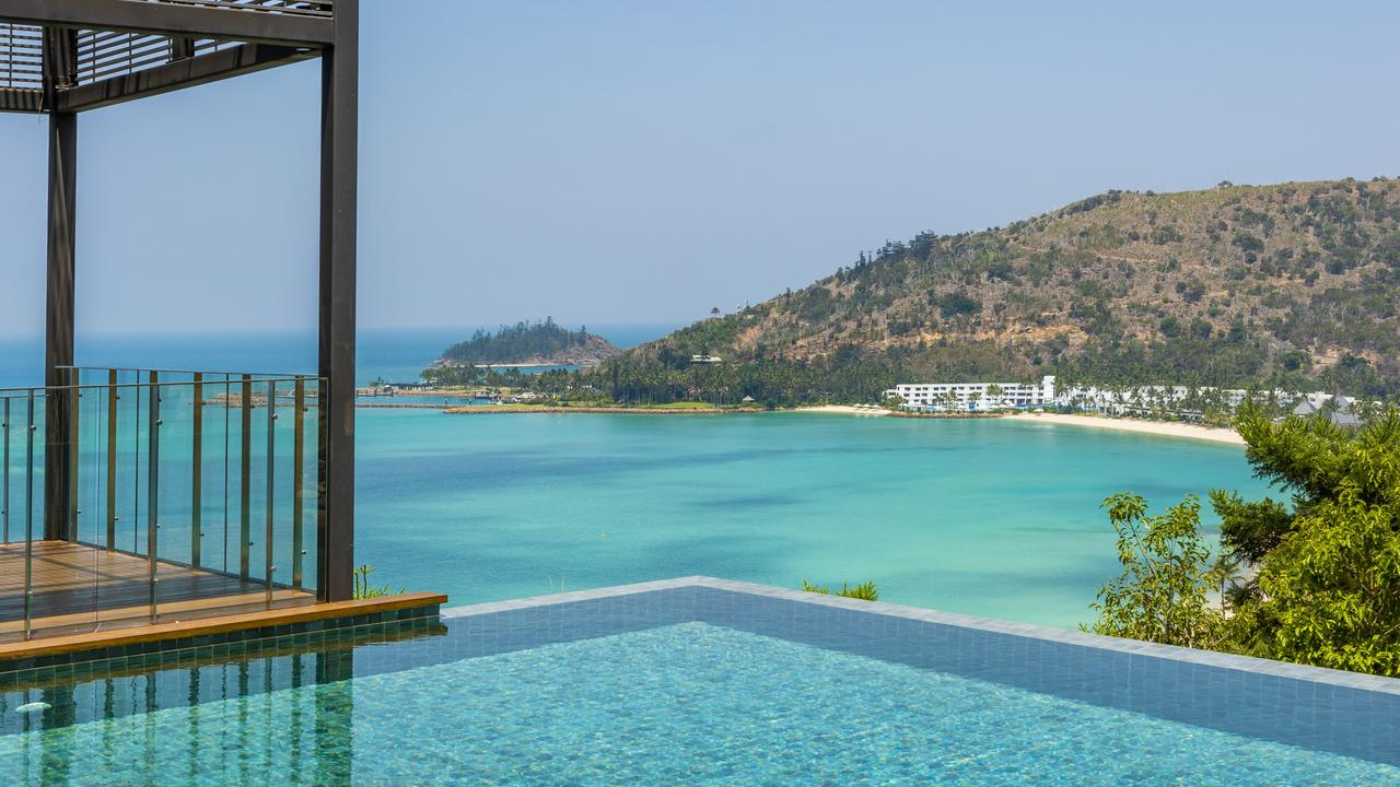 The view from the pool in the villa for sale in Hayman Estates, Hayman Island.