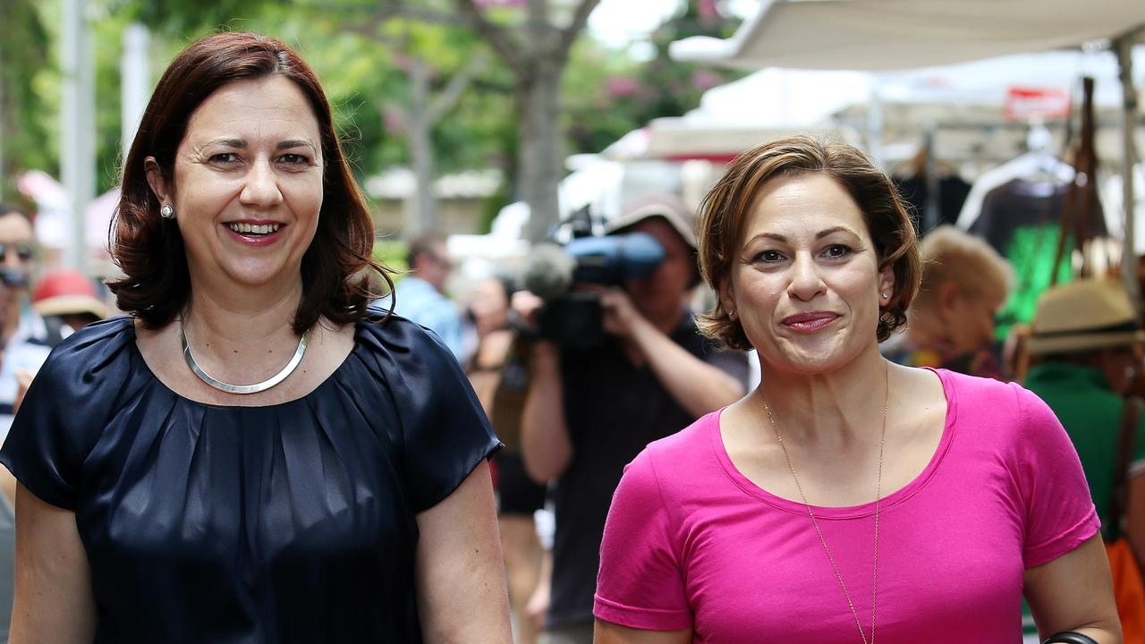 Annastacia Palaszczuk during a visit to South Bank. Picture: Tara Croser