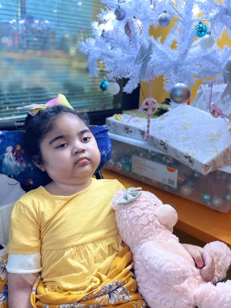 During treatment, Lani suffered a cardiac arrest, which has resulted in brain damage. Picture: supplied