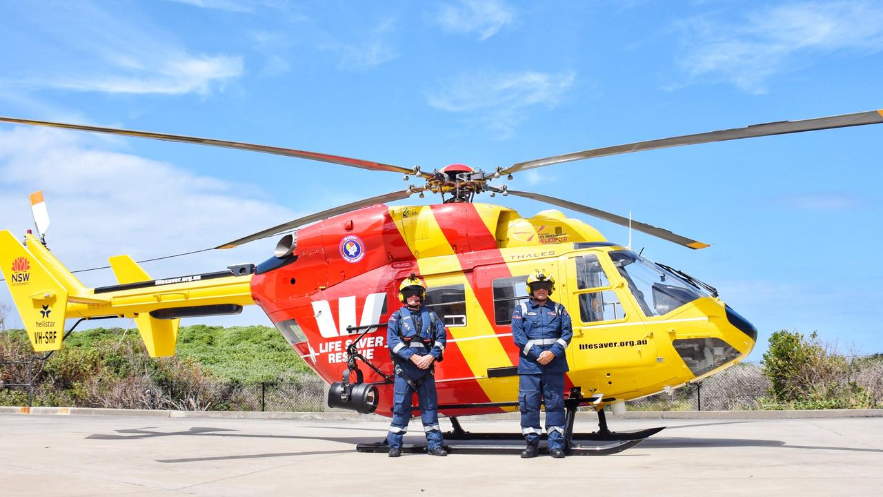 Westpac Life Saver Rescue Helicopter Pilot and Crew. Source: Surf Life Saving Australia