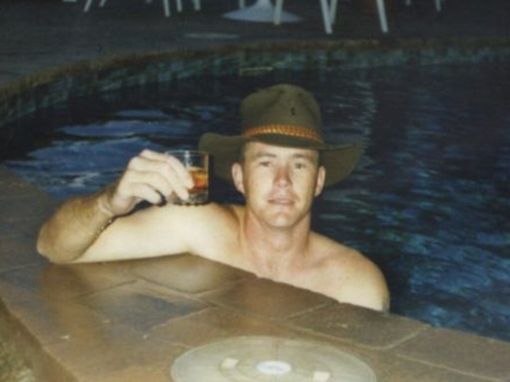 Brenden Abbott, 'the Postcard Bandit', at a Gold Coast hotel swimming pool. Photo: File