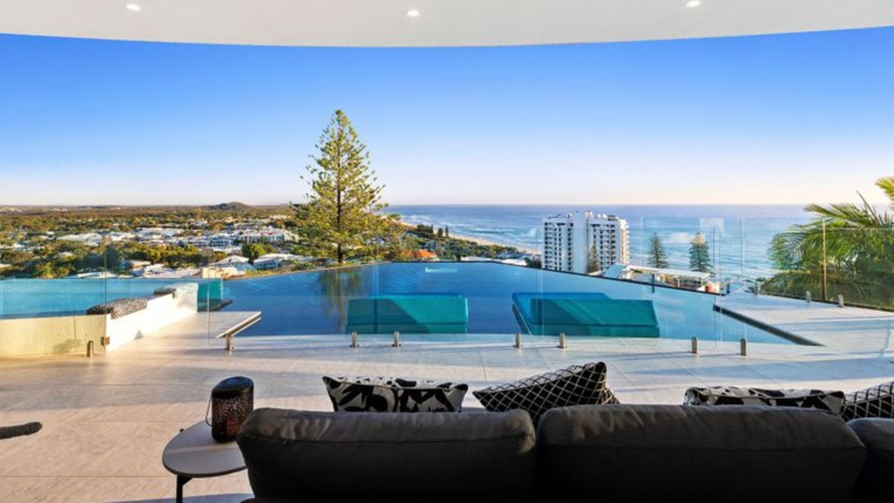 This is the owner's favourite spot, looking out over the pool and the ocean.
