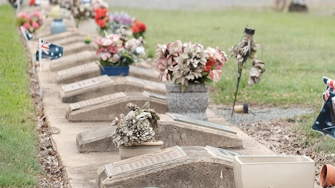Proserpine Cemetery. Picture: Matthew Newton / The Guardian