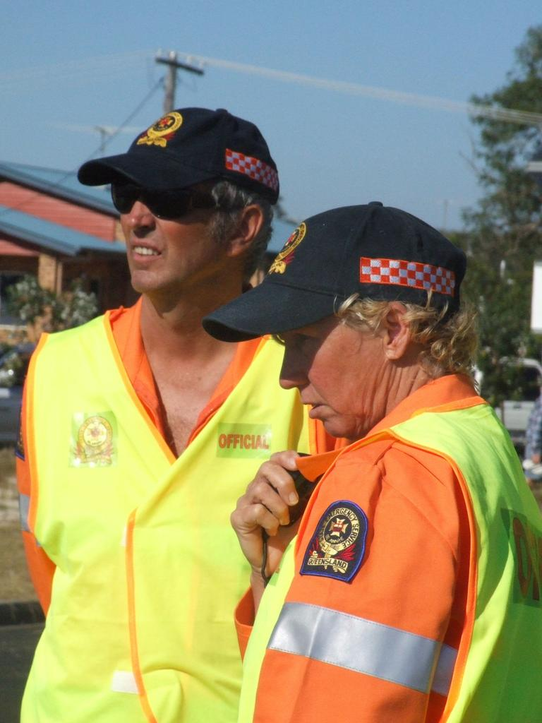 SES operational and capability officer Carrollyn Hennessy and SES local controller in Moreton Bay Henk van den Ende have no plans of retiring. Picture: Supplied.