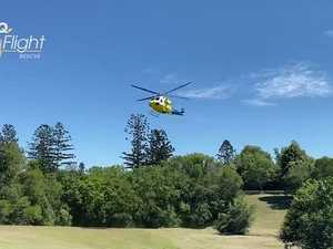 Man in 70s flown to hospital after serious Burnett crash