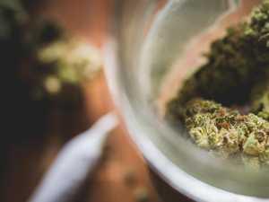 Man stuffs bag of cannabis down pants during raid