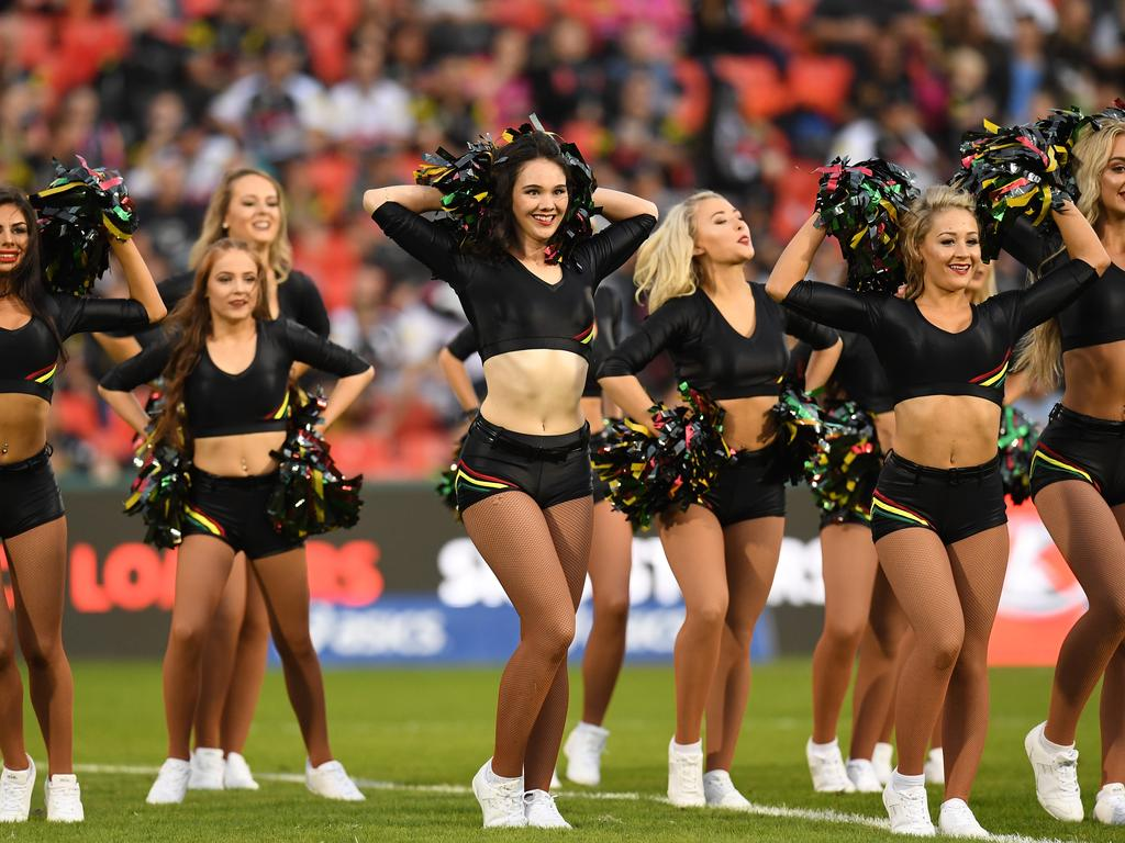 The Penrith Panthers cheerleaders. Picture: AAP Image/Dean Lewins