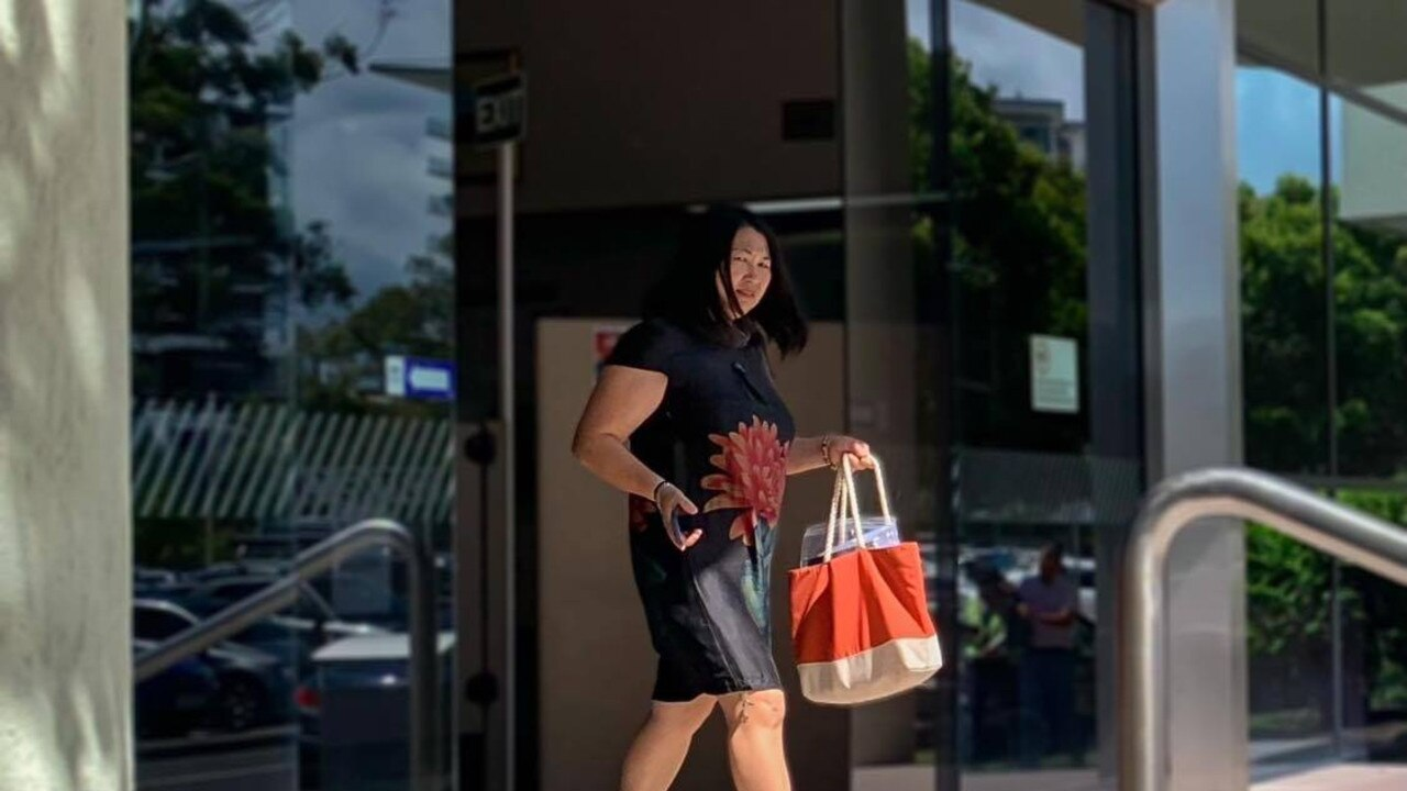 Yan Jiang leaves Maroochydore Magistrates Court after an earlier mention of her charges.