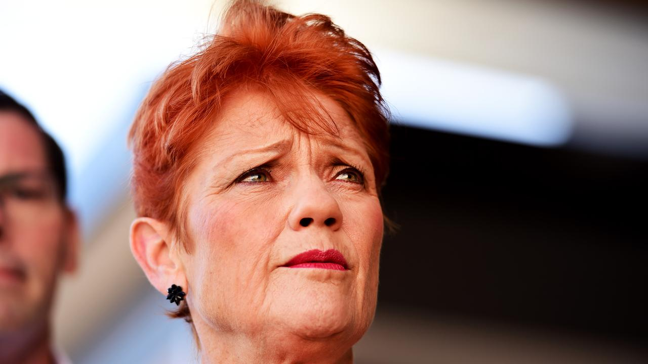 Senator Pauline Hanson says cancel culture has left both sides of politics too afraid to act on high rates of abuse in Indigenous communities. Picture: Alix Sweeney