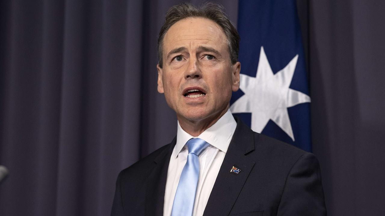Health Minister Greg Hunt. Picture: NCA NewsWire/Gary Ramage