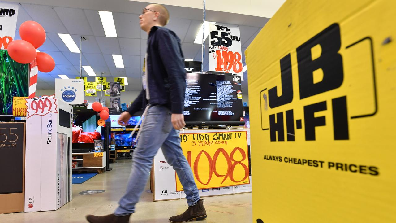 A JB Hi-Fi store in Brisbane. Picture: AAP