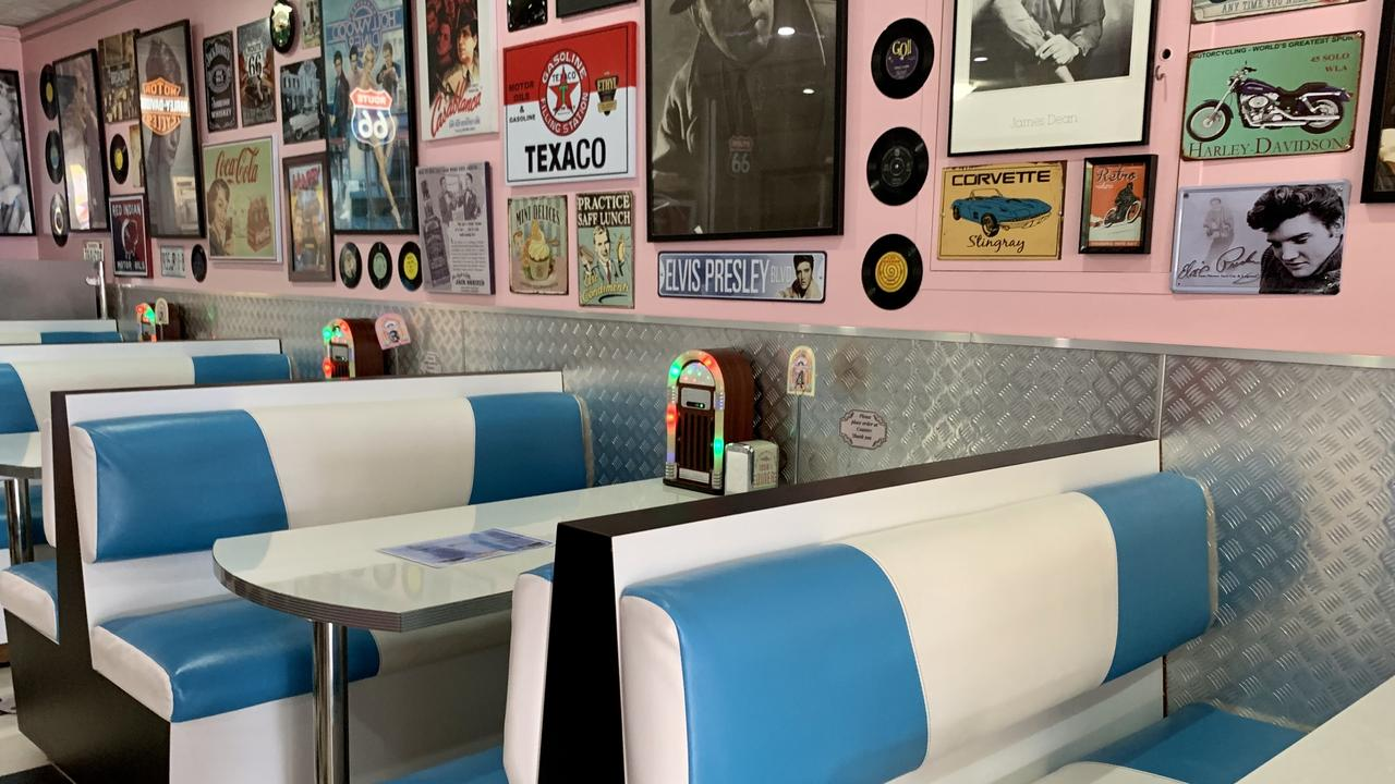 A classic 50s style exudes the diner and into the streets. Picture: Isabella Magee